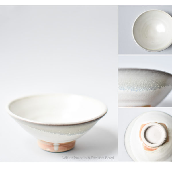 White Porcelain Desert Bowl